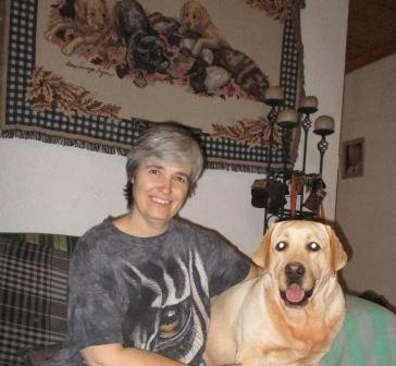 Me and one of my labradors